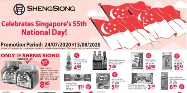 Sheng Siong SG National Day Promotion 24 Jul – 13 Aug 2020