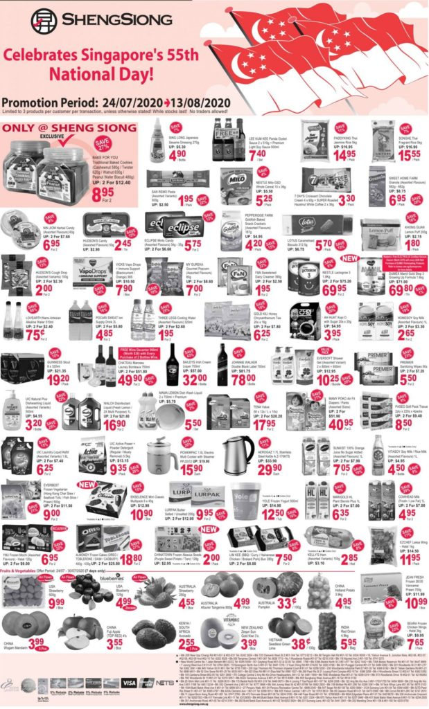 Sheng Siong SG National Day Promotion 24 Jul – 13 Aug 2020 | Why Not Deals