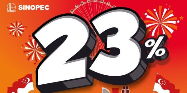 Sinopec SG 23% Instant Discount National Day Promotion 31 Jul – 31 Aug 2020