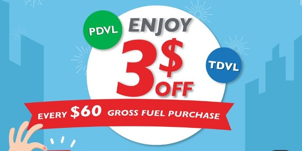 Sinopec SG PDVL & TDVL Drivers Special $3 Off Fuel Purchase Promotion ends 31 Dec 2020
