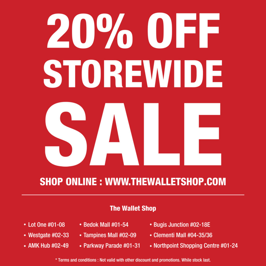 The Wallet Shop SG is having a 20% OFF MID-YEAR STOREWIDE SALE! | Why Not Deals