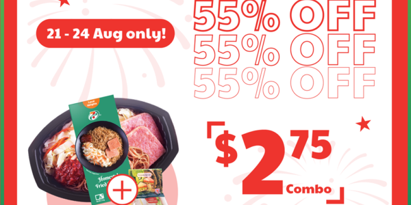 7-Eleven Singapore National Day Month Combo Deal At 55% Off Promotion 21-24 Aug 2020