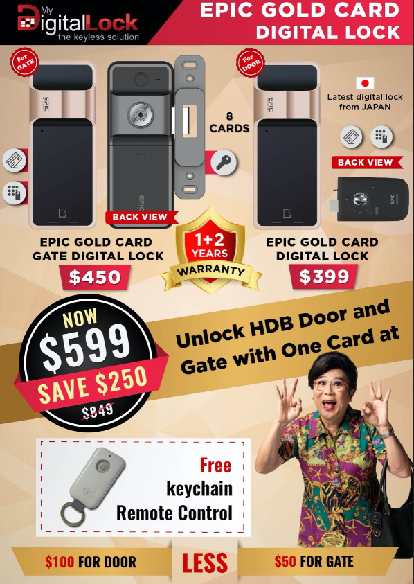 WTS: Epic Gold Card Korea Digital Lock bundle at $58 Call 96177025 | Why Not Deals