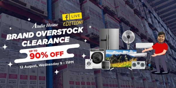 [Audio House Facebook Live] Coolest Deals in Town at Audio House Brand Overstock Clearance