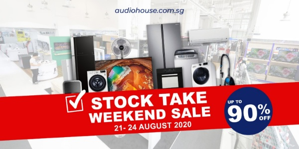 [Audio House Stocktake Weekend Sale] Up to 90% OFF + Extra 20% Cashback with Every $100 Spent!