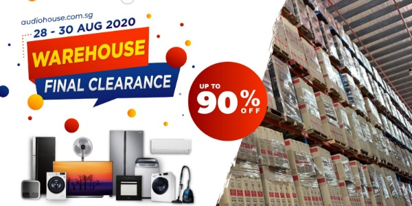 Audio House Warehouse Final Clearance 90% OFF Weekend Sale Happening From 28 Aug to 30 Aug 2020!