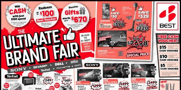 BEST Denki Singapore Ultimate Brand Fair Is Happening From 28 Aug – 01 Sep 2020