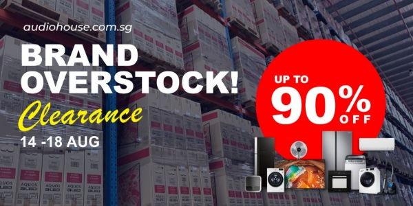 [Brand Overstock Clearance] More than 100,000 worth of Stocks To be Cleared at Up to 90% OFF!