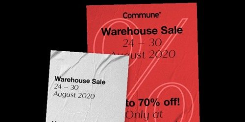 Commune Home Singapore Warehouse Sale Up to 70% Off Promotion 24-30 Aug 2020