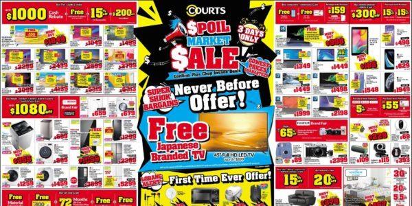COURTS Singapore Spoil Market Sale More Than 50% Off Promotion ends 24 Aug 2020