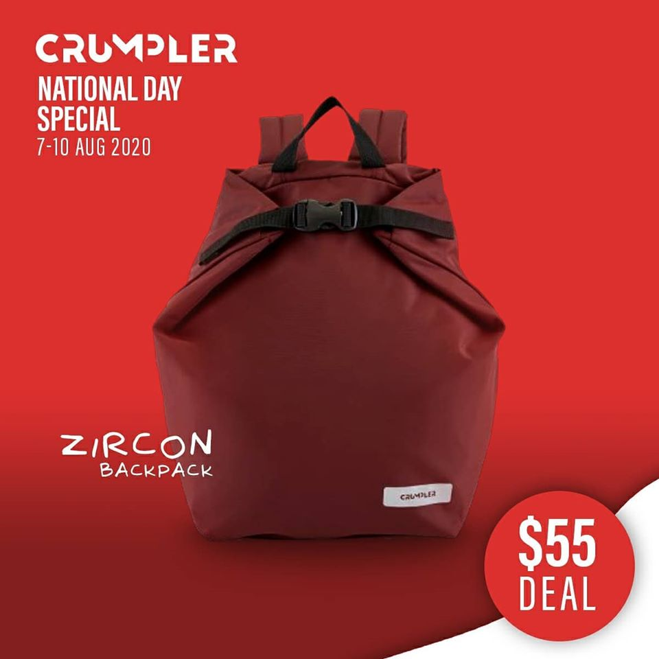 Crumpler Singapore National Day Special $55 Deals 7-10 Aug 2020 | Why Not Deals 1