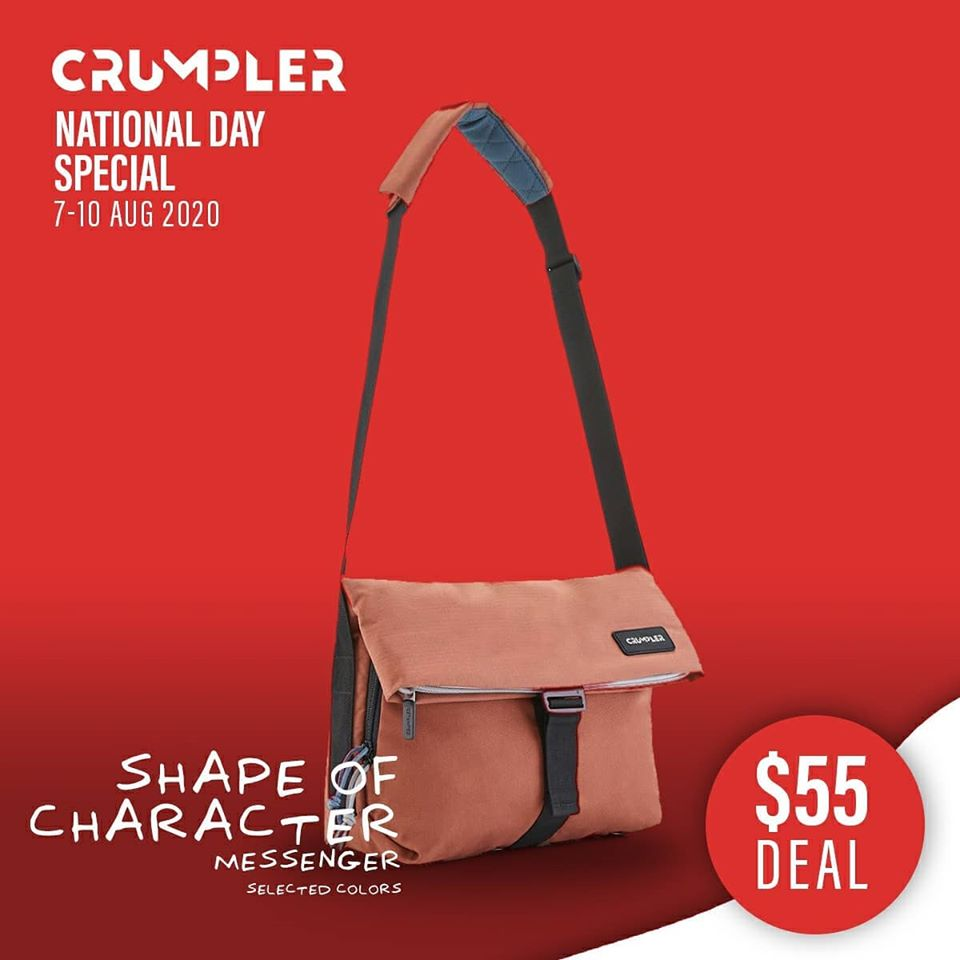 Crumpler Singapore National Day Special $55 Deals 7-10 Aug 2020 | Why Not Deals 2