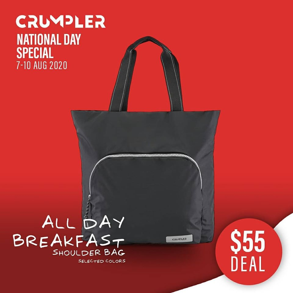 Crumpler Singapore National Day Special $55 Deals 7-10 Aug 2020 | Why Not Deals 3