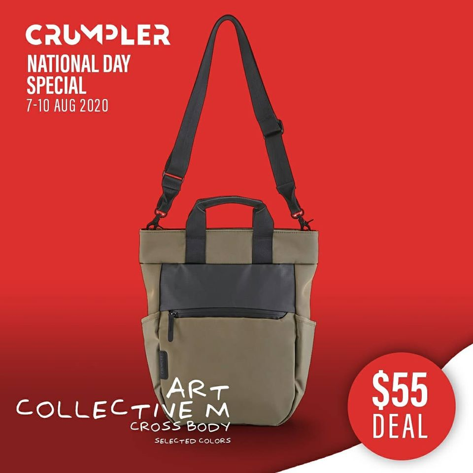 Crumpler Singapore National Day Special $55 Deals 7-10 Aug 2020 | Why Not Deals 4