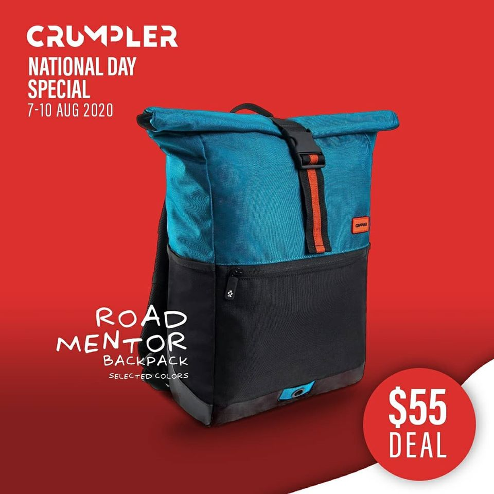 Crumpler Singapore National Day Special $55 Deals 7-10 Aug 2020 | Why Not Deals 6
