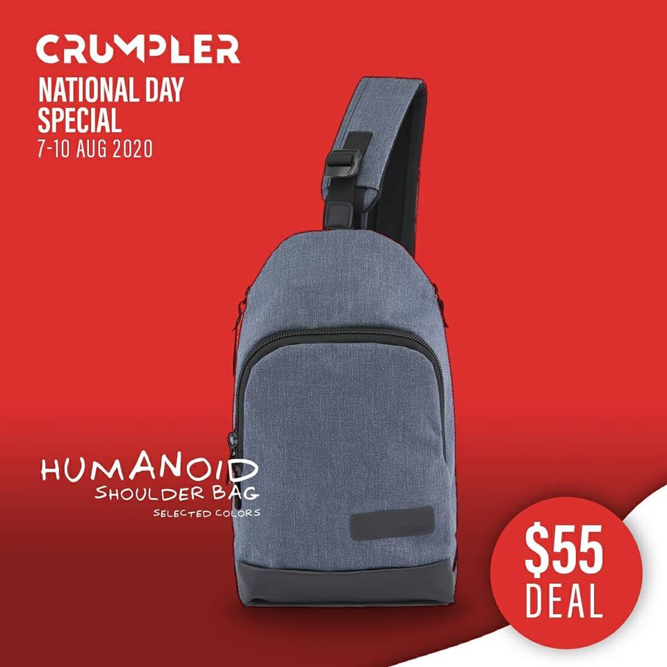 Crumpler Singapore National Day Special $55 Deals 7-10 Aug 2020 | Why Not Deals 7