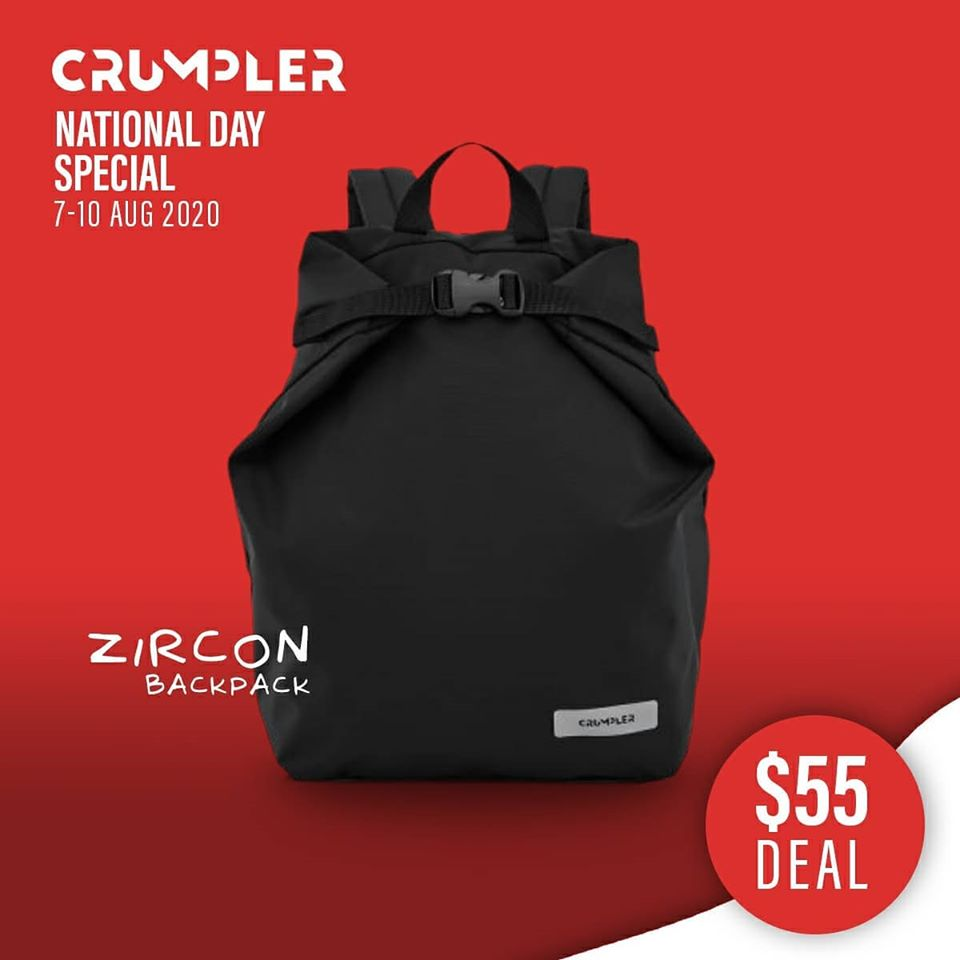 Crumpler Singapore National Day Special $55 Deals 7-10 Aug 2020 | Why Not Deals 8