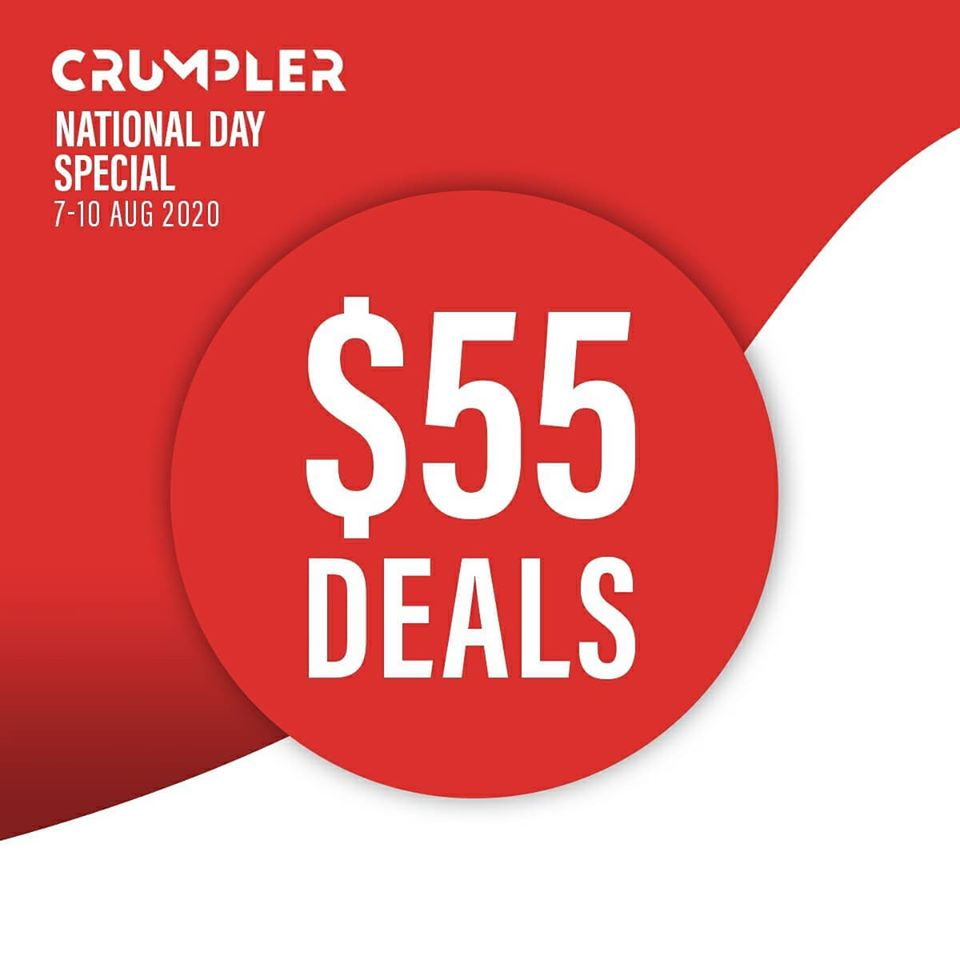 Crumpler Singapore National Day Special $55 Deals 7-10 Aug 2020 | Why Not Deals