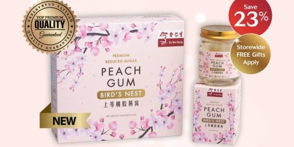 Eu Yan Sang Singapore 23% Off Premium Peach Gum with Bird's Nest Promotion 27-30 Aug 2020