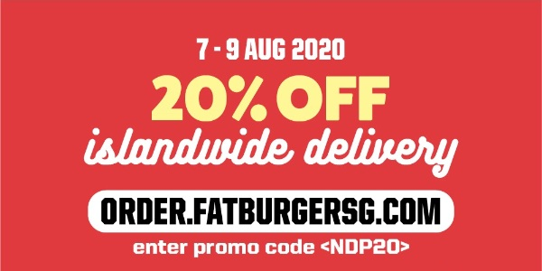 Fatburger celebrates National Day with 20% off islandwide delivery!