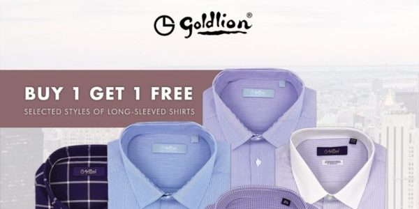 GOLDLION Singapore Buy 1 Long-Sleeved Shirt & Get 2nd Piece FREE Limited Time Promotion