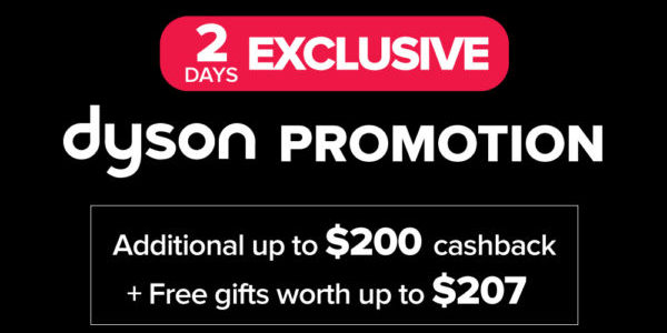 Harvey Norman Singapore 2-DAY Exclusive Dyson Promotion ends 30 Aug 2020