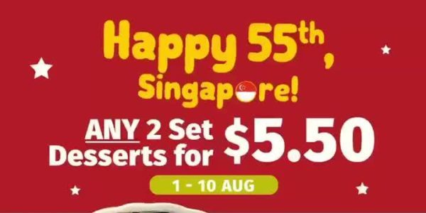 Nine Fresh SG 2 Set Desserts For $5.50 National Day Promotion 1-10 Aug 2020