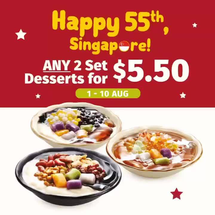 Nine Fresh SG 2 Set Desserts For $5.50 National Day Promotion 1-10 Aug 2020 | Why Not Deals
