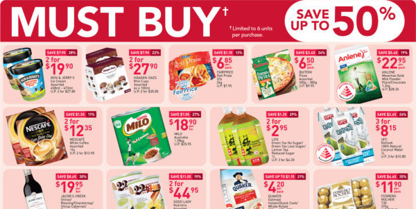 NTUC FairPrice SG Your Weekly Saver Promotions 13-19 Aug 2020