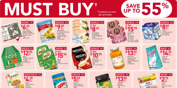 NTUC FairPrice SG Your Weekly Saver Promotions 6-12 Aug 2020