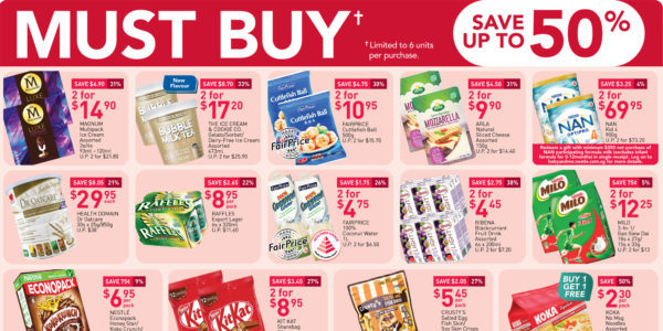 NTUC FairPrice Singapore Your Weekly Saver Promotions 20-26 Aug 2020