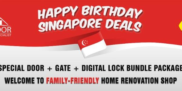 ONLINE + STOREWIDE NATIONAL DAY SPECIAL DOOR, GATE & DIGITAL LOCK BUNDLE PROMOTION SALE 2020