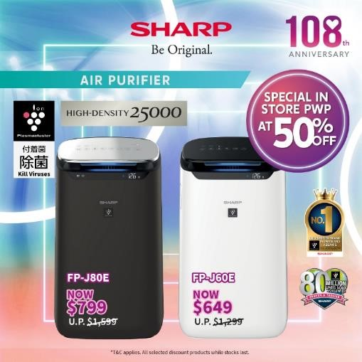 Sharp Celebrates 108 Anniversary by Giving Out Up To $17,000 OFF Sharp Products from now till 30 Sep | Why Not Deals 3
