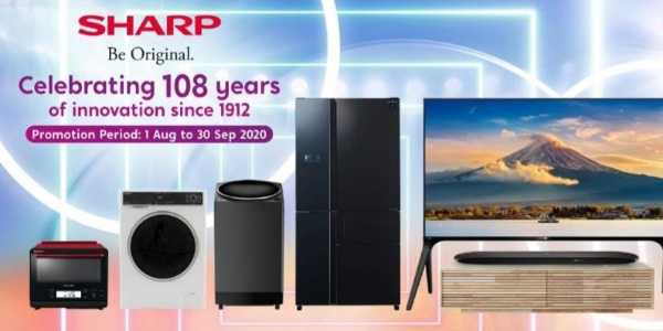Sharp Celebrates 108 Anniversary by Giving Out Up To $17,000 OFF Sharp Products from now till 30 Sep