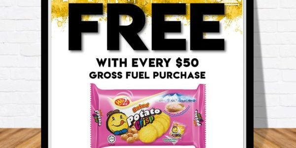 Sinopec SG FREE Himalayan Salt baked potato crisp crackers with every $50 gross fuel purchase