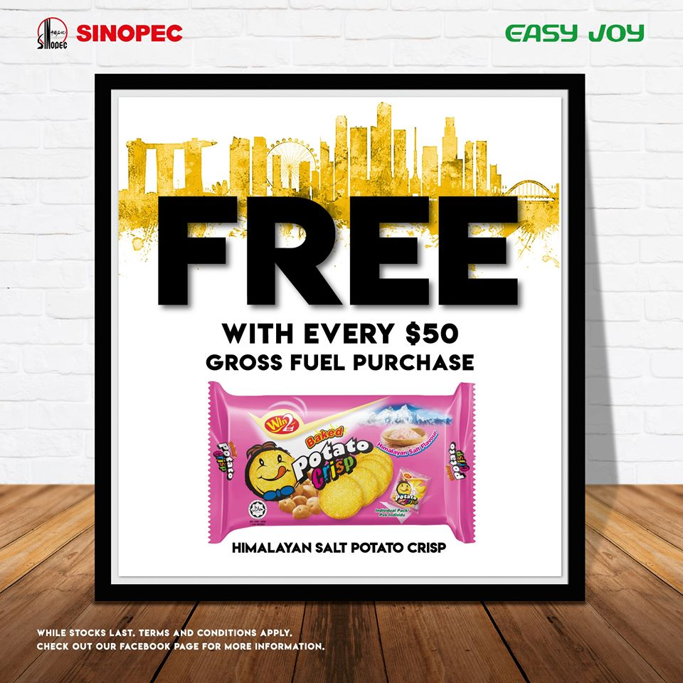 Sinopec SG FREE Himalayan Salt baked potato crisp crackers with every $50 gross fuel purchase | Why Not Deals