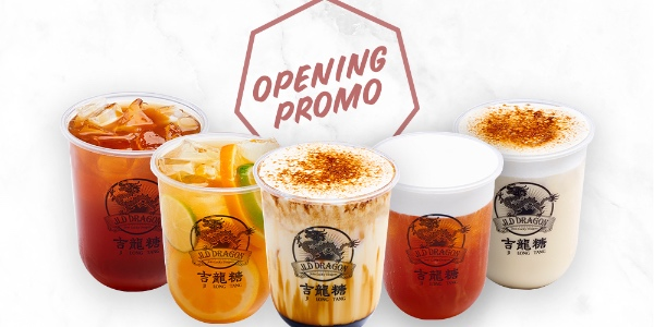 JLD Dragon Singapore 1-FOR-1 ON ANY DRINKS OPENING PROMO