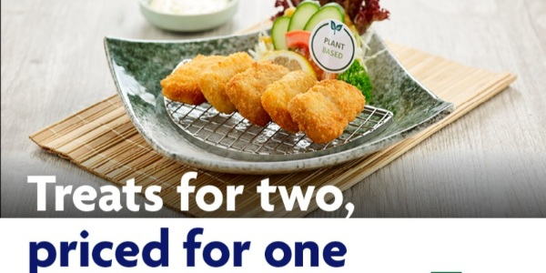 1 for 1 Shokubutsu Fish Nuggets at Sushi Tei when you dine on weekends with your UOB card