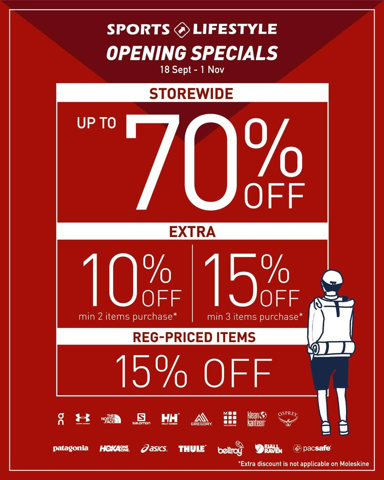 SPORTS & LIFESTYLE OPENING SALE (WESTGATE) – 18 SEPT TO 1 NOV | Why Not Deals