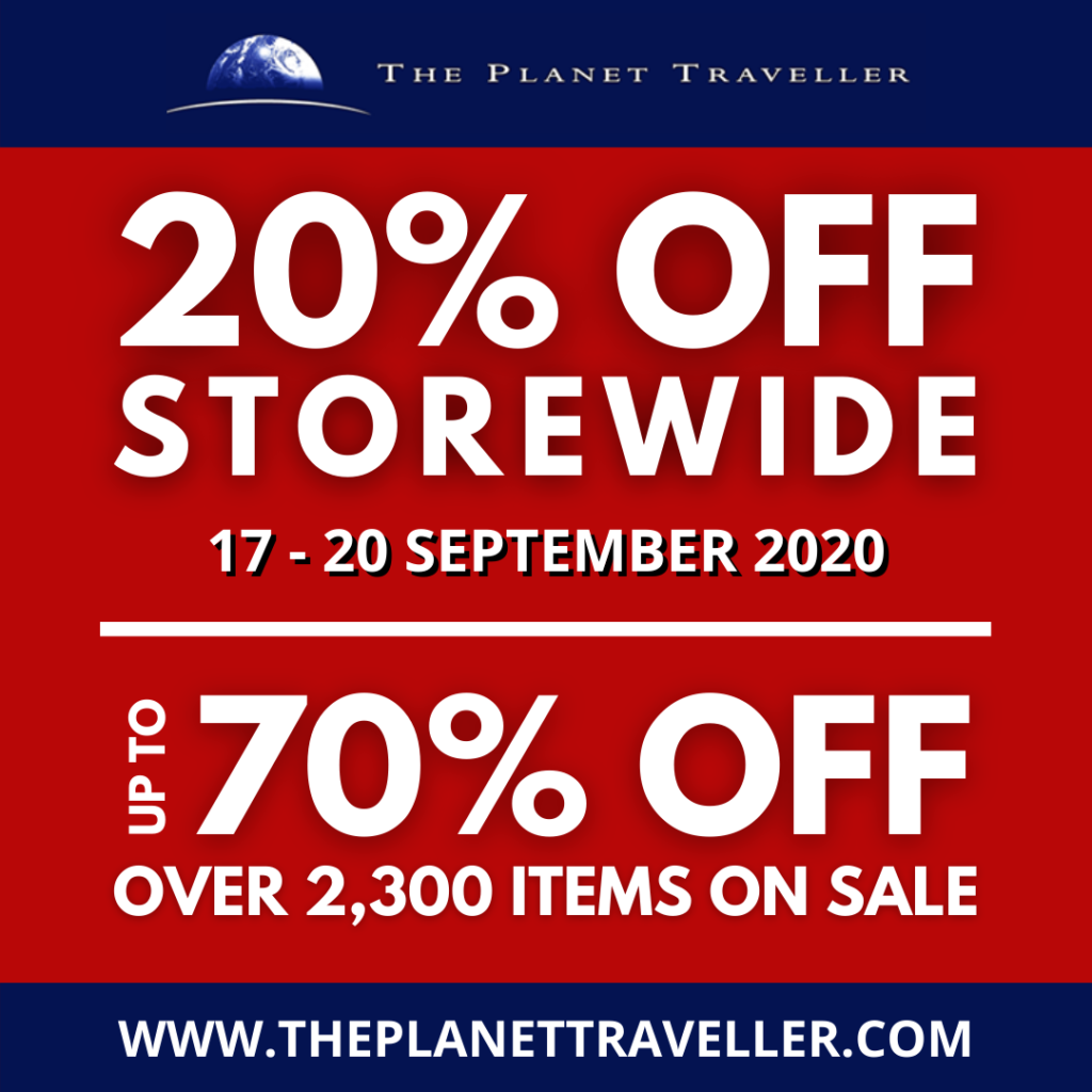 THE PLANET TRAVELLER 20% STOREWIDE SALE – 17 TO 20 SEPTEMBER 2020 | Why Not Deals 1