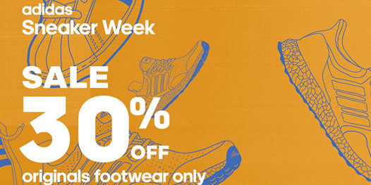 adidas Singapore Sneaker Week 30% OFF adidas Originals footwear Promotion 25 Sep – 4 Oct 2020
