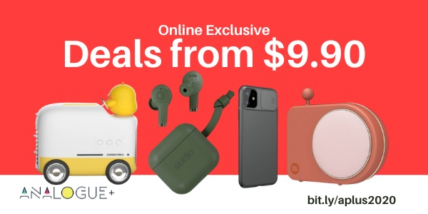 Analogue+ eGSS Deals Starting From $9.90 24 – 30 Sep 2020