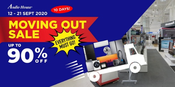 [Audio House 10-Day Moving Out Sale] Up to 90% OFF For Over 2,700 Electronics Items!