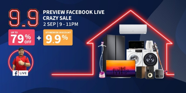 [Audio House 9.9 Facebook Live Preview Sale] Get Up to 79% OFF + Additional Storewide Discount 9.9%