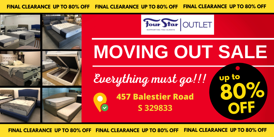 Bedding Deals of Up to 80% Off! | MOVING OUT SALE Four Star Outlet Store in Balestier