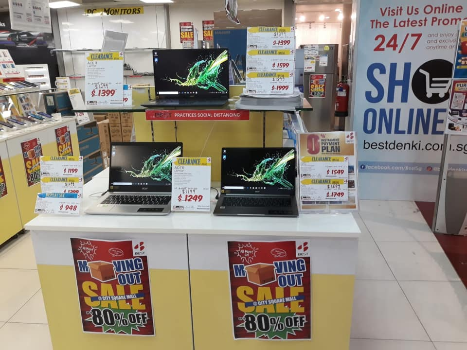 BEST Denki Singapore City Square Mall MOVING OUT SALE Up To 80% Off Promotion ends 20 Sep 2020 | Why Not Deals 1