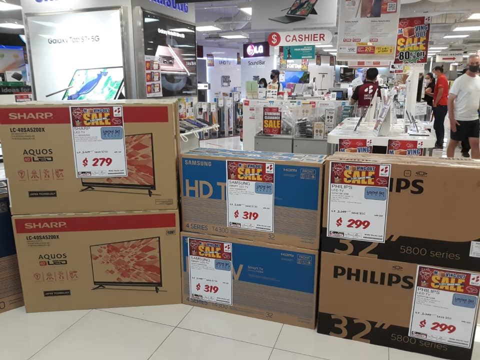 BEST Denki Singapore City Square Mall MOVING OUT SALE Up To 80% Off Promotion ends 20 Sep 2020 | Why Not Deals