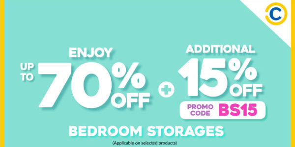 COURTS Singapore Up To 70% Off Bedroom Storage Promotion ends 28 Sep 2020