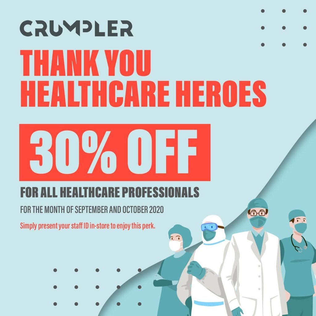 Crumpler Singapore 30% Off For All Healthcare Professionals Promotion   Why Not Deals