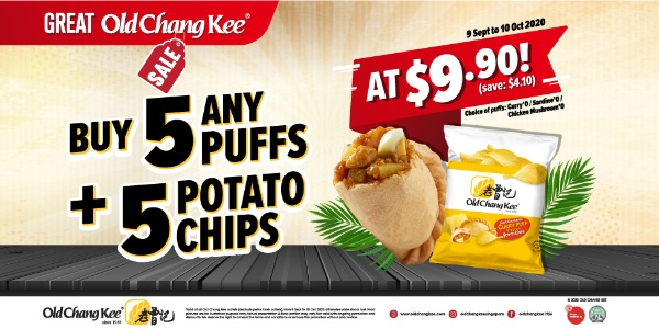 Old Chang Kee Singapore is having a Great Old Chang Kee Sales 9 Sep – 10 Oct 2020